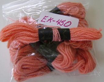 Yarn, Paragon, 100% Wool Crewel Needlepoint, Color #102 Light Salmon, 8.8 Yards