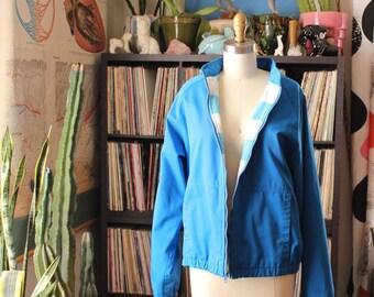 unisex blue 1980s jacket SALE, mens medium large