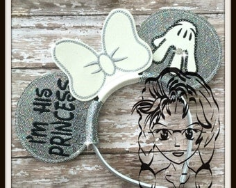 I'm His PRINCESS, I'm Her PRiNCE (5 Piece) Mr Miss Mouse Ears Headband ~ In the Hoop ~ Downloadable DiGiTaL Machine Emb Design by Carrie
