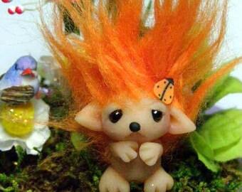 "Adorable Shy Baby Trollfling Troll Hedgehog ""Mimi"" by Amber Matthies"
