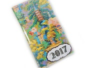 2017 planner - Chinoiserie Toile - pocket planner - 2017 calendar - date book - office gift - one year mini planner