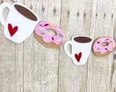Coffee & Doughnuts Banner // Coffee Station // Coffee Lover // Donuts