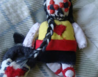 Day Of The Dead Fabric Miniature Art Doll Death Darkmoon