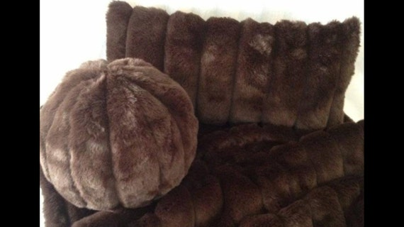 Faux fur Pillows, faux mink pillows, fur pillows,  faux mink pillows, faux fur mink pillows, faux mink ball pillows, pillows by Saari Design