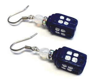 Tardis Doctor Who Earrings