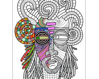 Warrior One Printable Coloring Page for Adults