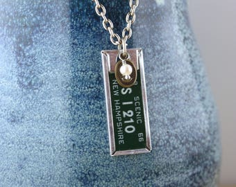 Junque Drawer Necklace - Vintage New Hampshire Tag 1966