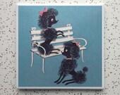 Poodle Pals Tile Coaster