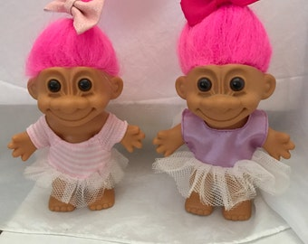 Vintage Ballerina Troll Doll circa 1990 choose one by dress color