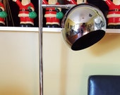 Mid Century Chrome Ball Floor Lamp Lighting