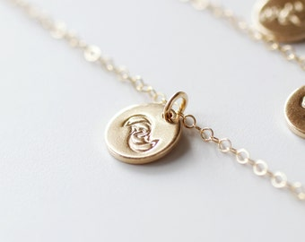 Pisces Necklace, Zodiac Necklace, Gold Pisces Necklace, Zodiac Jewelry, March Birthday Gift, Scorpio Sign, Small, Dainty, Best Friend Gift