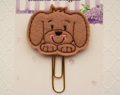 Brown Puppy Dog Planner Clip, Bookmark, Planner Accessory, Paper Clip- Special of the Week!