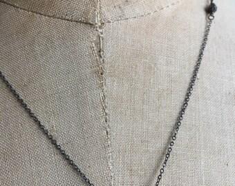 Diamond disco ball necklace