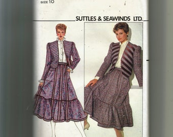 Butterick Misses' Quilted Reversible Jacket and Skirt Pattern 4724