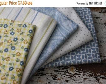 SALE- Fat Quarter Bundle-Reclaimed Bed Linens -Country