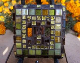 New! Fabulous JEWELED  Mosaic ART light switch cover