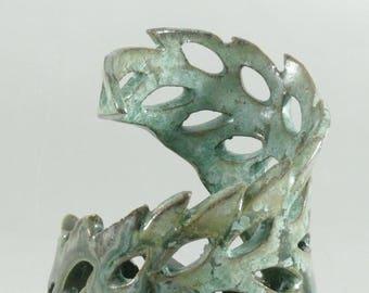 One of a Kind OOAK Ceramic Vase, Fine Art Flower Holder,  Ocean Wave Vessel, Container, Crystalline Glazed Art Piece,