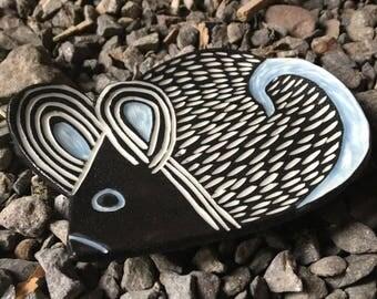 Mod Porcelain Mouse dish tea tray