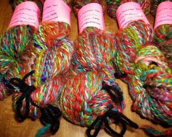 Music and Dance handspun yarn, 100 yards of llama and merino spiral plied worsted yarn