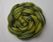 Merino Wool Roving - Colour Blended - Olive - Green - Navy - Wool For Spinning - Wool For Felting - Wool Fibres - The Butterfly Collection