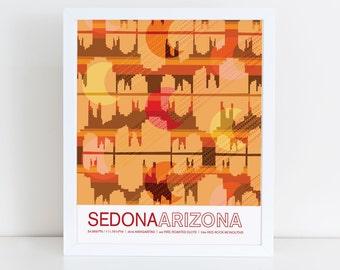 Sedona, Arizona travel poster