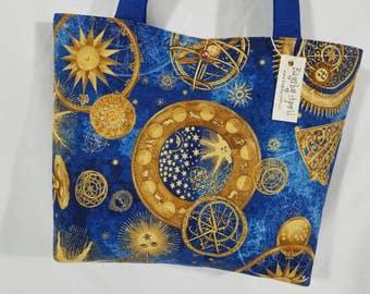 Celestial Moon Sun Star Zodiac Astrology purse tote bag handbag