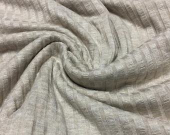 Stretch Jersey Knit Ribbed Fabric 1-3/4 Yards