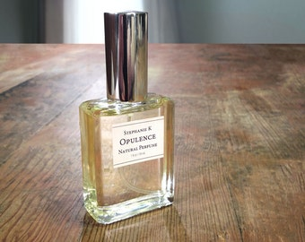 Opulence Natural Perfume Oil with sandalwood, rosewood and bergamot - rich elegant perfume for women or men