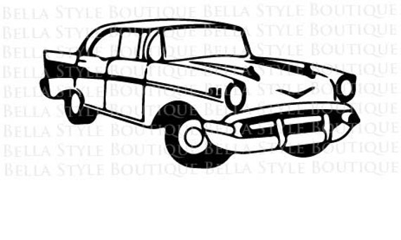 57 chevy bel air svg cut file