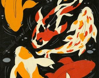 Koi 8x10 art print