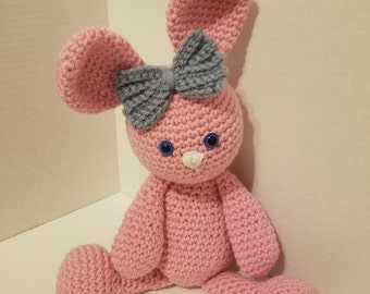 Olivia the bunny in Pink Ready to Ship