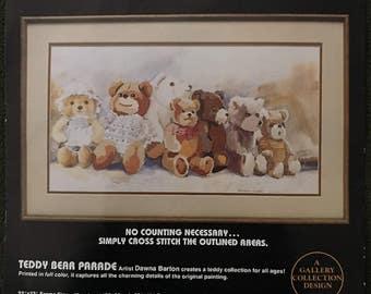 TEDDY BEAR PARADE Cross Stitch Kit Dimensions No Count X-Stitch Bears