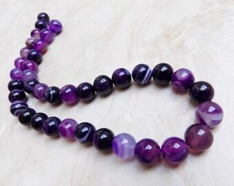 Purple Stripe Agate beads