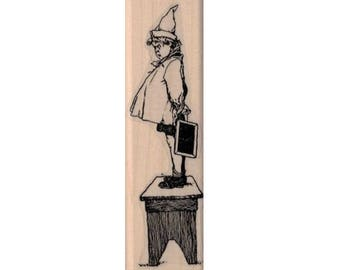 Halloween stamps  elf on a stool hobbit fairy  rubber stamps    20088 stamp stamping supplies
