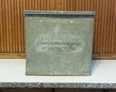 Galvanized Anderson Dairy Box - Cooler - Industrial - Rustic - Royal Hill Vintage