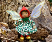 Reserved for Chris Art Doll Ornament - Holly Pixie