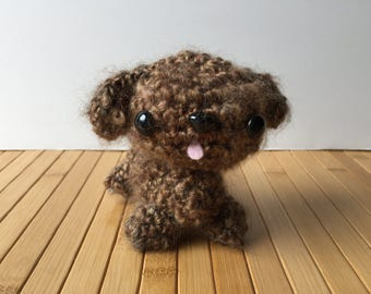 Chocolate Poodle Puppy Amigurumi Doll
