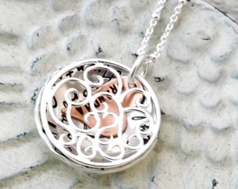 personalized necklace, locket necklace-grandmother necklace, mothers necklace, nana necklace, gift for mom, gift for nana, grandma jewelry
