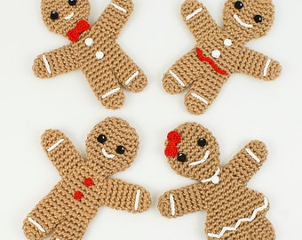 PDF Gingerbread Family - two amigurumi CROCHET PATTERNS