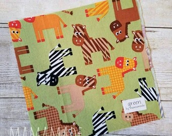 SALE! Ready to Ship - Horses - Reusable Sandwich Bag | Snack Bag | Waterproof | Travel Bag from green by mamamade