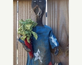Welcome Spring Sale Primitive Americana Folk Rabbit Door Greeter