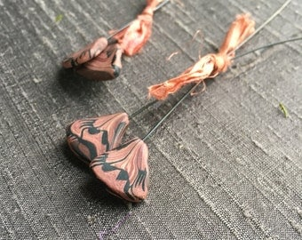Butterfly Wing Headpins - Rust