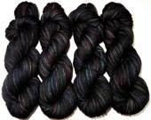 Hand Dyed Superwash Merino DK Yarn -- Extra Large 120g 282yd Skeins -- Got Crows? (Game of Thrones)