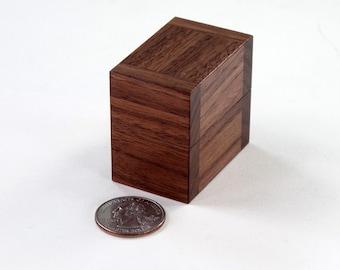 Walnut Ring Box, Single Ring Box, Double Ring Box