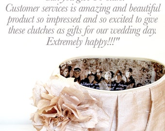 Neutral Wedding Clutch. Personalized Photo Clutch. Picture Clutch. Mother of the Bride Gift. Gift for Her. Gift for Mom. Clutch with Photo