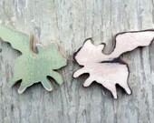 Flying Pigs in Love, Recycled Wood Animals, Nursery Decor, Pig Wall Decor,Rustic Wood Art, Pig Nursery Art, Restaurant Decor
