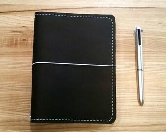 CUSTOM BLACK BohoDori Traveler's Notebook, B6 Leather Planner Journal