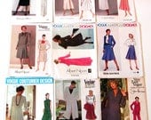 9* VOGUE DESIGNER PATTERNS Misses American Paris Couturier Klein Dior Nipon Dresses Skirts Jackets Slacks Tops Retro