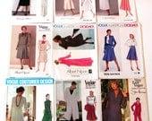 9* VOGUE DESIGNER PATTERNS Misses American Paris Couturier Klein Dior Nipon Dresses Skirts Jackets Slacks Tops Retro
