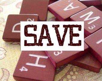 dArK rEd BULK lot of 100 Wooden Scrabble Tiles secondhand SALE price